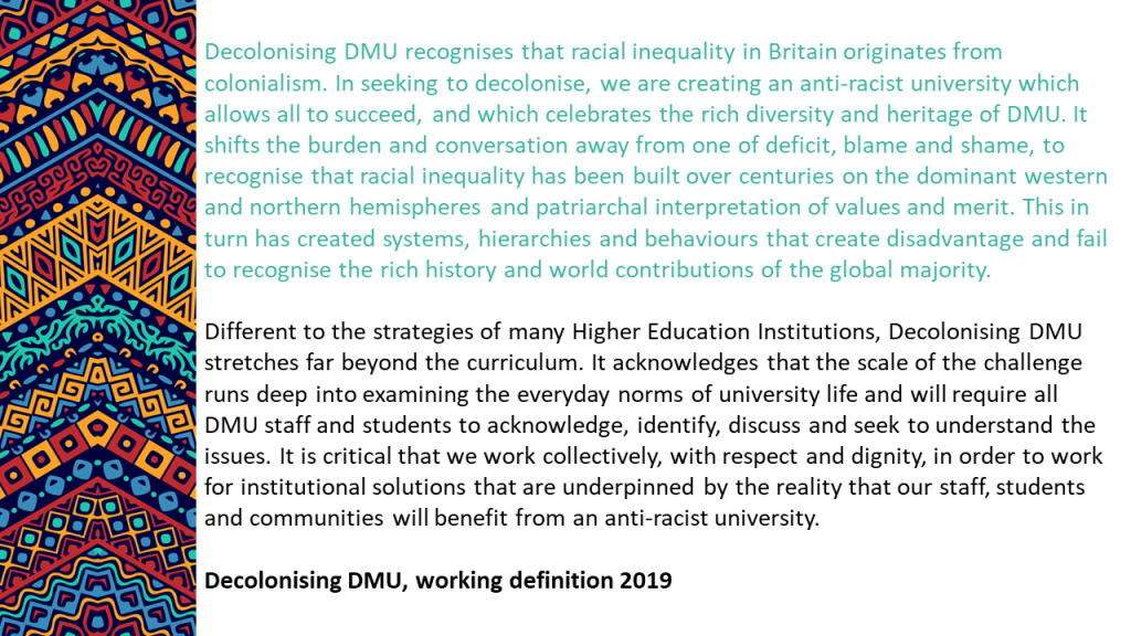 Decolonising DMU definition