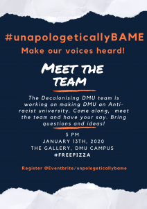 Unapologetically BAME Event poster